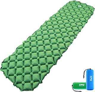 TFO Air Camping Sleeping Pad 1lb Ultralight, Upgraded 40D Tear-Resistant Nylon, Textured Inflatable Camping Mat with Compa...