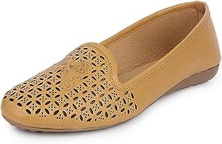 YAHE Women's Casual Led Napa Ballerina Shoes Y-702