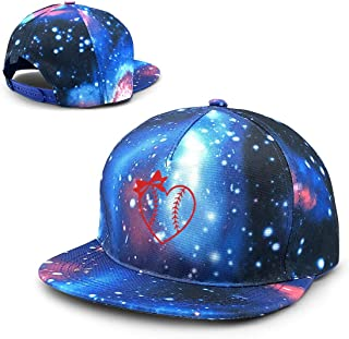 Men's/Women's Baseball Softball Heart with Bow Baseball Hat, Stylish Hip-hop Cap
