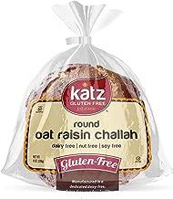 Katz Gluten Free Round Oat Raisin Challah | Dairy, Nut, Soy and Gluten Free | Kosher (6 Packs of 1 Challah, 8 Ounce Each)