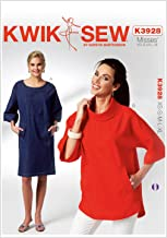 Kwik Sew K3928 Misses Dolman Sleeve Dress and Top Sewing Pattern, Size XS-S-M-L-XL
