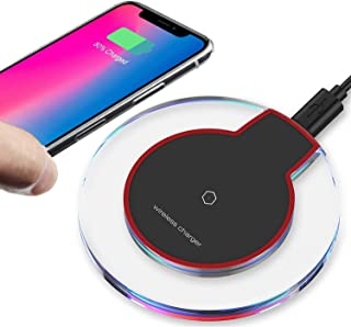 2019 Updated Wireless Charger Qi Wireless Charger Pad Compatible with ¡Phone Xs MAX XR X 8 8 Plus 7 7 Plus 6s 6s Plus 6 6 Plus and More WXCC003