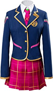Women's OW Halloween Cosplay Costumes DVA School Uniform Outfits Sets