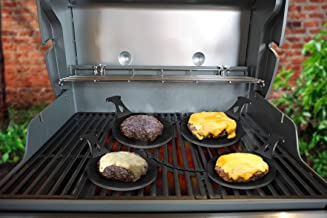 ARTEFLAME Burger Pucks (Set of 4), Grill The Perfect Burger Every Time, Fits All Grills, Solid Steel, Lasts a Lifetime, Made in The USA.