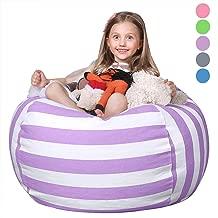 WEKAPO Stuffed Animal Storage Bean Bag Chair for Kids   38