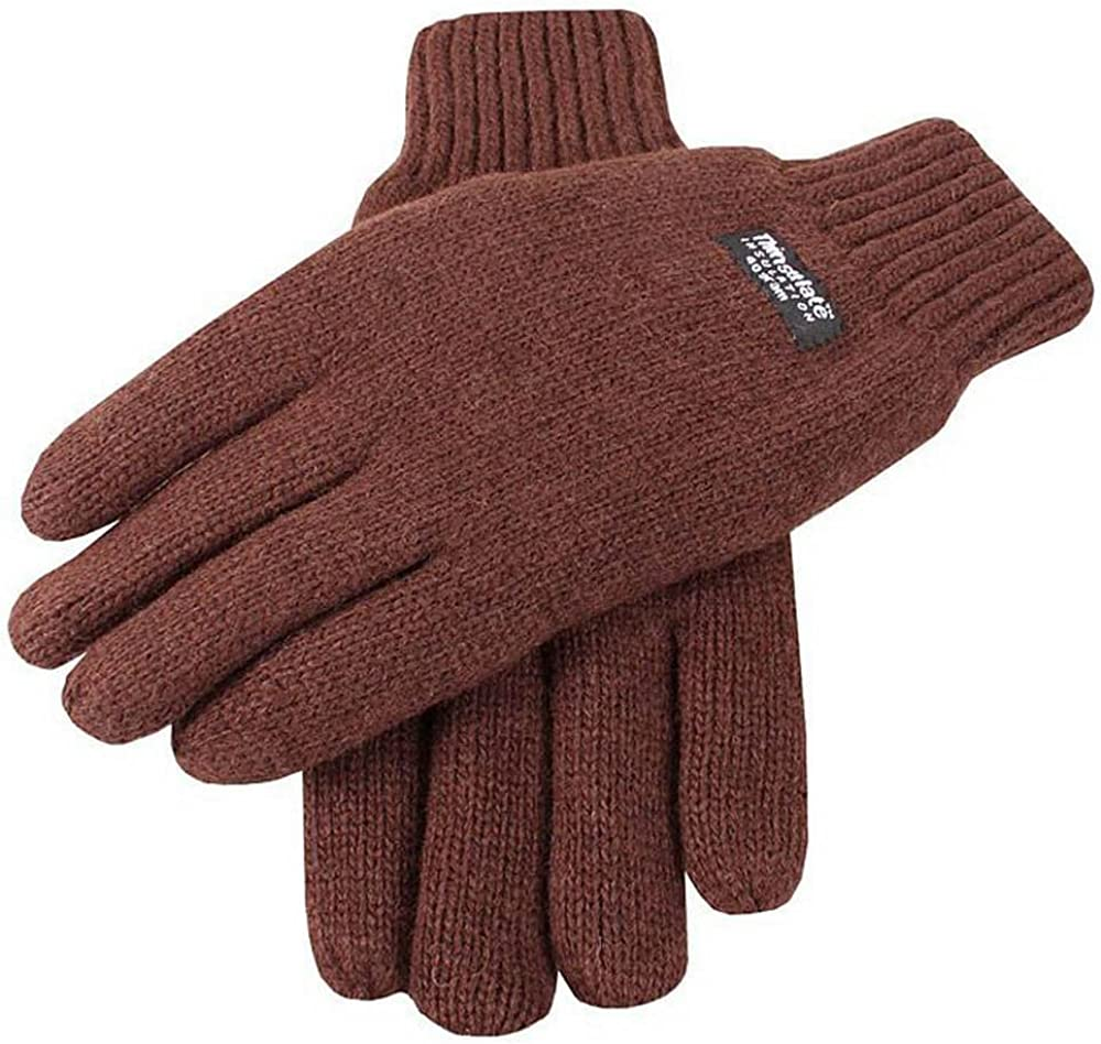 Dents Mens Arlington Fixed price for sale Mall Plain Knitted Chocolate Gloves -