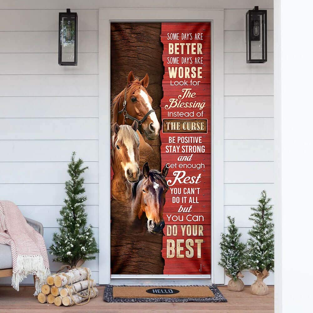 FLAGWIX Door Covers Printed-Horse. Some Days are Cov Super Special SALE held service Better