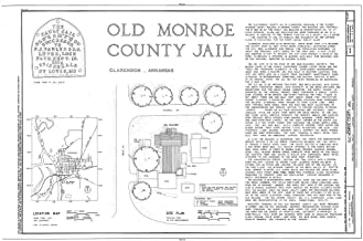 Historic Pictoric Blueprint Diagram HABS ARK,48-CLAR,1- (Sheet 1 of 8) - Old Monroe County Jail, Main & Kendall Streets, Clarendon, Monroe County, AR 12in x 08in