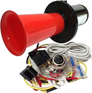 OEMLINK International LTD OOGA Horn Red Antique Classic Car Hot Rod Oooga Ahooga with Installation Wire Kit and Button