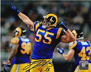 James Laurinaitis St. Louis Rams Action Autographed Signed 8x10 - Certified Authentic