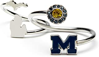 Michigan Rings Gift Set - Love Michigan Wolverines One for You and One for Me Rings | Michigan Map Ring | University of Michigan Ring | Michigan Wolverines Jewelry