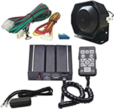 AS 100W Wired Electronic Siren Kit A3E-SPK0021 3-Piece Pack 20 Tones with Siren Box Speaker Remote Control PA Function Fit for Police Ambulance Fire Engineer Vehicles
