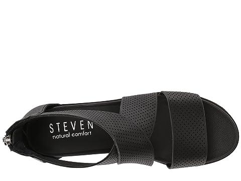 Leathermetallic Cuero Leathertan Negro Steven Sandalia Nc La Klein De De cuña zx0xP8qwF