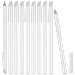 10 Pieces White Nail Pencils 2-In-1 Nail Whitening Pencils