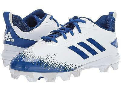 adidas Kids Afterburner V MD Baseball (Toddler/Little Kid/Big Kid) (Cloud White/Royal/Grey) Kids Shoes