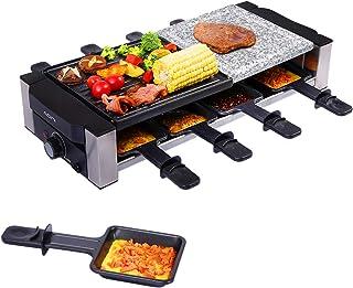 AONI Raclette Grill, gril électrique d'intérieur, gril de barbecue coréen, plaque de gril antiadhésive et pierre de cuisso...
