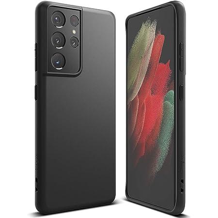 """Ringke Air-S Compatible con Funda Samsung Galaxy S21 Ultra 5G (6.8"""") Ergonómico Resistente Impactos TPU Parachoques Protección - Black"""