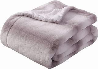 Sedona House Faux Fur Throw Blanket - Super Soft Fuzzy Faux Fur Cozy Warm Fluffy Beautiful Plush Microfiber Throw Blanket, Coffee Stripe