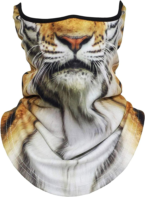 3D Animal Neck Gaiter Balaclava Anti-UV Windproof Face Mask Scar