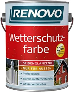 EM RENOVO Wetterschutzfarbe 2,5L anthrazitgrau RAL 7016 283000257016