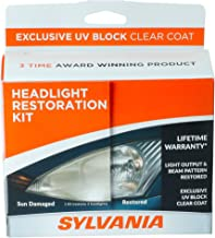 SYLVANIA - Headlight Restoration Kit - 3 Easy Steps to Restore Sun Damaged Headlights With Exclusive UV Block Clear Coat, Light Output and Beam Pattern Restored, Long Lasting Protection