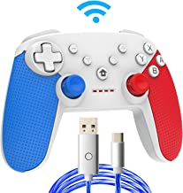 Nintendo Switch Pro Controller - Wireless Controller Remote with Dual Shock, Gyro Axis, Pro Switch Controller Gamepad for Nintendo Switch Console (Blue+Red)