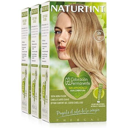 Naturtint Coloración 9N Rubio Miel. Tinte sin Amoniaco. 100% Cobertura de Canas e Hidratación. Ingredientes y Aceites Vegetales. Color Natural y ...