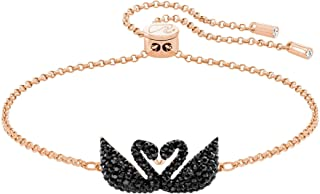 SWAROVSKI Iconic Swan Bracelet Multi/Rose Gold/Black/Clear Crystal MD