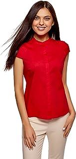 Tops blusa cortos largos fiesta camiseta tirantes ajustado rojo sexy