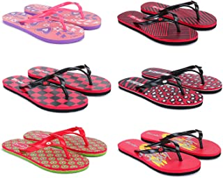 Aura Women EVA Flip Flops - Pack of 6