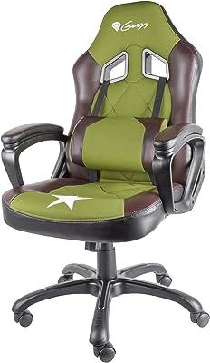 GENESIS Nitro 330 Silla Gaming, Cuero sintético, Verde, 53 x 51 x 125 cm