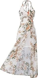 Women's Casual Halter Maxi Dress Split Floral Summer Beach Sundress