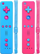 $27 » Wii Controller,Wii Remote Controller 2 Pack Compatible with Nintendo Wii,with Wrist Strap and Case Pink & Blue