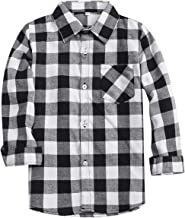 SANGTREE Boys' & Men's Plaid Flannel Button Down Shirt, 3 Months -Men XXL