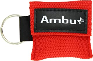 Ambu Res-Cue Key CPR Mask with Mini Keychain Pouch, Red