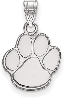 Auburn University Tigers Mascot Paw Pendant in Sterling Silver 12x13mm