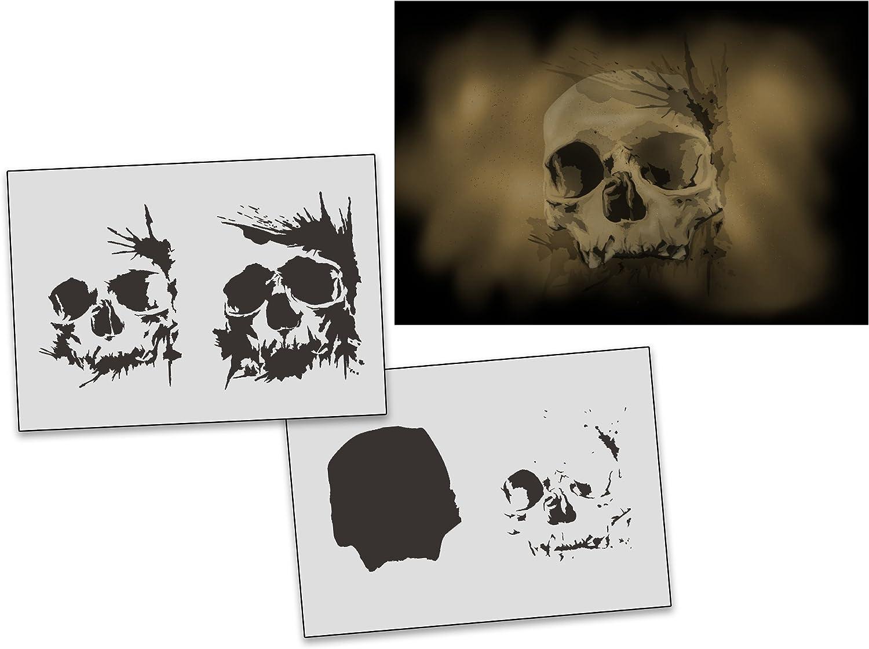 UMR-Design AS-312 Skull Airbrushschablone Step by Step Grösse XL B01MXF8TEK     | Toy Story