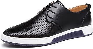 b5e5c1bb74e3d3 JOYTO Chaussure de Cuir Homme, Oxford Derby Lacets Dressing Casual Business  Mariage Respirant Noir Marron