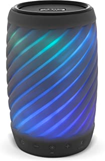 iHome Alexa Built-in Bluetooth Speaker Portable Wireless Color Changing Waterproof Rechargeable Lights Up to Music with Sp...