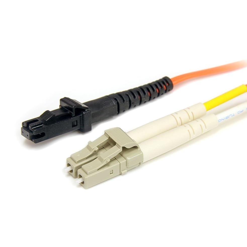 StarTech.com 50FIBLCMT3 3m Multimode 50/125 Duplex Fiber Patch Cable LC - MTRJ