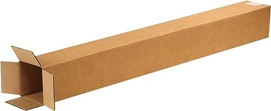 "BOX USA B4436100PK Tall Corrugated Boxes, 4"" L x 4"" W x 36"" H, Kraft (Pack of 100)"
