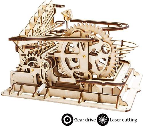 GRASSAIR 3D-Holz-Craft Kits Brain Teaser Games Mechanical Gears Set Coaster mit Stahlballen Besteen Kaufspielzeug für Adutls & Kids,A