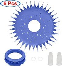 S-Union W70329 Finned Seal/Disc/Skirt & W69698 Pool Cleaner Diaphragm & W70327 Foot Pad Replacement for Zodiac Baracuda G2 G3 G4