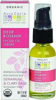 Aura Cacia – Rosehip Restoring Serum | Organic Facial Care | 1 fl. oz.