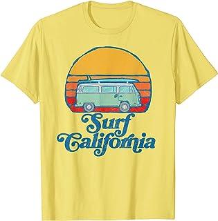 Retro California Hippie Van Groovy Beach Bum Surfer Graphic T-Shirt