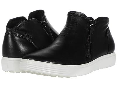 ECCO Soft 7 Zip Bootie (Black Cow Leather) Women