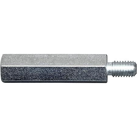 SN-TEC Distanzmutter//Langmutter Distanzbolzen 6-kant M5 x 50mm verzinkt 10 St/ück