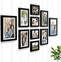 Art Street - Set of 10 Individual Black Wall Photo Frames Wall Hanging (Mix Size)(4 Units 5X7,4 Units 6X8 2 Units 8X10 inc...