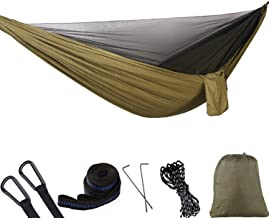 Lvgowyd Camping Hammock with Mosquito Net - Lightweight Double Single Hammock,Hold Up to 660lbs, Portable Hammocks for Indoor,Outdoor, Hiking, Camping, Backpacking, Travel, Backyard, Beach