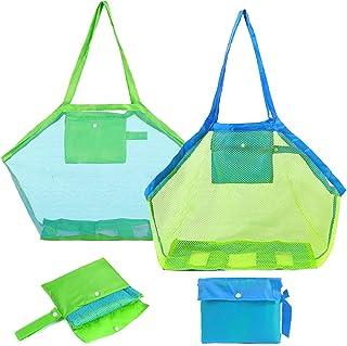Sac de plage - Miotlsy jouets de plage sac de plage grand jouets de plage sac de rangement de jouets d'eau pour enfants sa...
